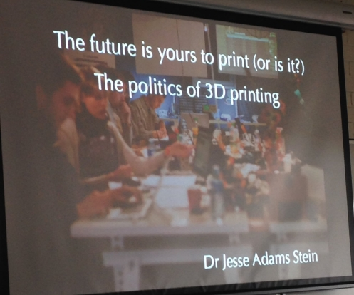 The Political Imaginaries of 3D Printing